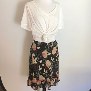 ANN TAYLOR Floral Printed Skirt Size 12P